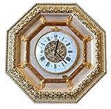 ITALIA CORNICI Wall Clock Reloj de pared clásico de cuarzo Marco de madera Decoraciones Salón Dormitorio Casa, Regalo de Navidad original Cumpleaños Hecho en Italia Diámetro 30 cm Dimensiones 70x70 cm