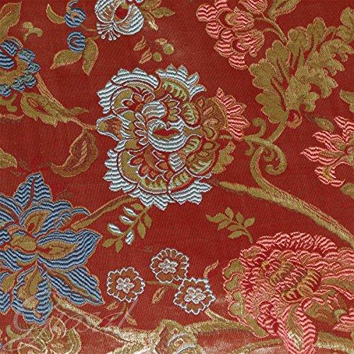 tessuto-arredo-fantasia-floreale-tappezzeria-copritavola-divano-cuscino-giosal-rosso-al-metro