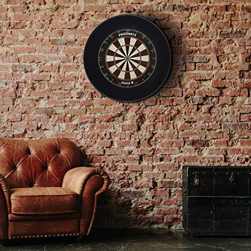 Dart Surround für alle Marken-Dartscheiben – Dart Auffang-Ring in Schwarz – hochwertige stabile Umrandung – Wandschutz für das Dartboard ohne Zusatzbefestigung – professionelle Optik – von ProDarts - 3