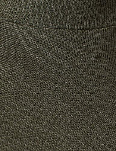 MERAKI Damen T-Shirt mit Stehkragen Grün (Green)