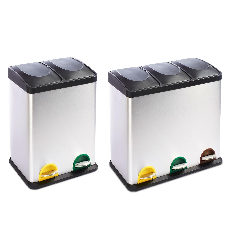 poubelle tri sélectif casa pura® brandon | système de tri ... - Poubelle Cuisine Tri Selectif