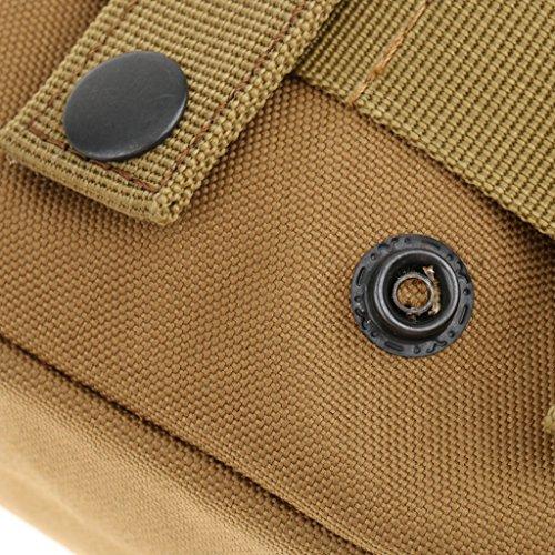Sharplace Taktische Gürteltasche Militärische Hüfttasche, Bauchtasche für Radfahren, Bergsteigen, Wandern, Camping, Trekking Sporttasche Tan