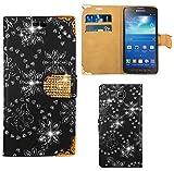 FoneExpert® Samsung Galaxy S4 Active i9295 Handy Tasche, Bling Luxus Diamant Hülle Wallet Case Cover Hüllen Etui Ledertasche Premium Lederhülle Schutzhülle für Samsung Galaxy S4 Active i9295