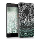 kwmobile HTC Desire 825 Hülle - Handyhülle für HTC Desire 825 - Handy Case in Mintgrün Weiß Transparent