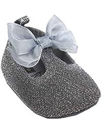 Fossen Zapatos Bebe Niña Primeros Pasos de Antideslizante Suela Blanda Princesa Zapatos del Bebé Bautizo