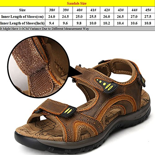 Zhuhaitf Fashion Mens Casual Soft Shoes Athletic & Outdoor Walking Sandals Breathable Shoes brown