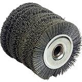 Fartools 110872 Nylonbürste für Schleifmaschine REX120, Durchmesser: 120 mm, Schwarz