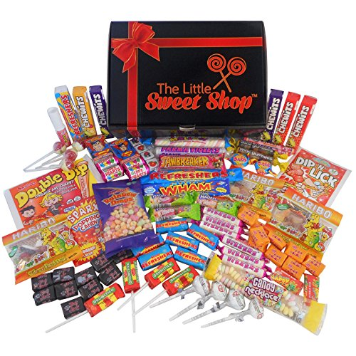 Retro Sweets Gift Hamper. Packed with 84 of the best retro sweets (crammed full of mouth watering retro sweets)
