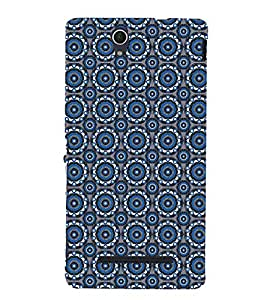 Animated Pattern With Circles 3D Hard Polycarbonate Designer Back Case Cover for Sony Xperia C3 Dual :: Sony Xperia C3 Dual D2502