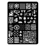 LEXUPE Modèle Nail Art DIY Stamping Stamps Plaques Modèle de manucure (K)