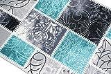 Teppich Modern, Flachgewebe, Gel-Läufer, Küchenteppich,Grau Tukis (TraumTeppich) Größe 80 x 250 cm - 3