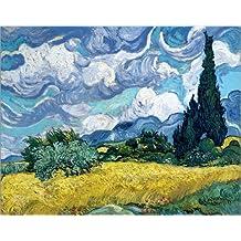 Póster 120 x 100 cm: Wheatfield with Cypresses de Vincent van Gogh - impresión artística de alta calidad, nuevo póster artístico