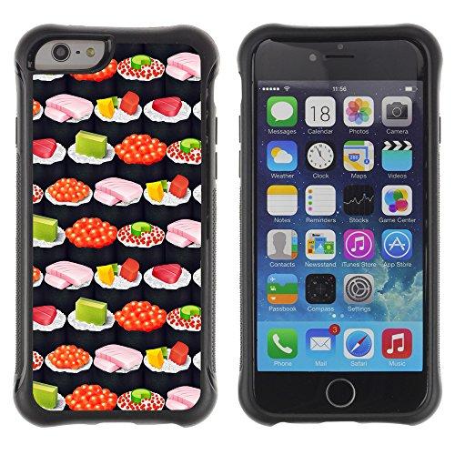 Graphic4You CHICKEN AND WAFFLES Muster Shockproof Anti-Rutsch Weichen Hülle Case Tasche Schutzhülle für Apple iPhone 6 / 6S Design #13