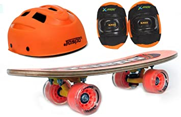 "Jaspo New Horizon Eco Junior Skateboard Combo (18*5"") (Skateboard+hemet+elbow) (for age group upto 6 years)"