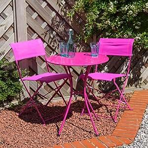 Alfresia Marbella Bistro Set für 2–Pink