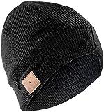 Callstel Mütze, Bluetooth: Beanie-Mütze inkl. integriertem Headset m.Bluetooth, FM-Radio, schwarz (Mütze Kopfhörer)