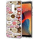 Eouine Coque Samsung Galaxy A8 2018, Etui en Silicone 3D Transparente avec Motif Fantaisie Peinture Dessin Antichoc Housse de Protection TPU Case Coque pour Telephone Samsung A82018, Donuts