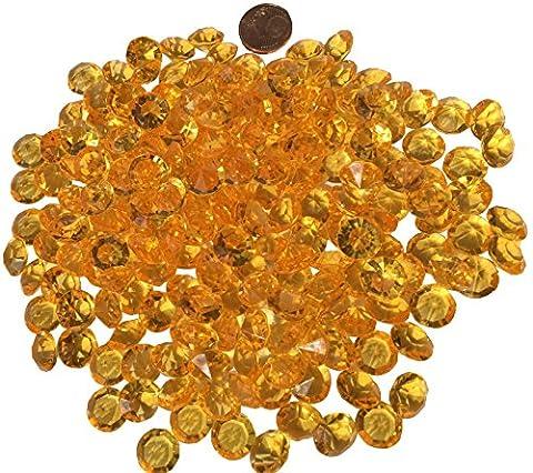 200pièces 11mm glitzernde Jaune Décoration diamants brillianten strass pierres en