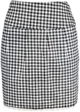 Damen Rock Pepita Bleistiftrock Schwarz XL