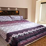 Craftastic Purple Luxury Printed Double Bed Bedsheet With Two Pillow Covers - Cotton Material ON SALE NOW ! best price on Amazon @ Rs. 799