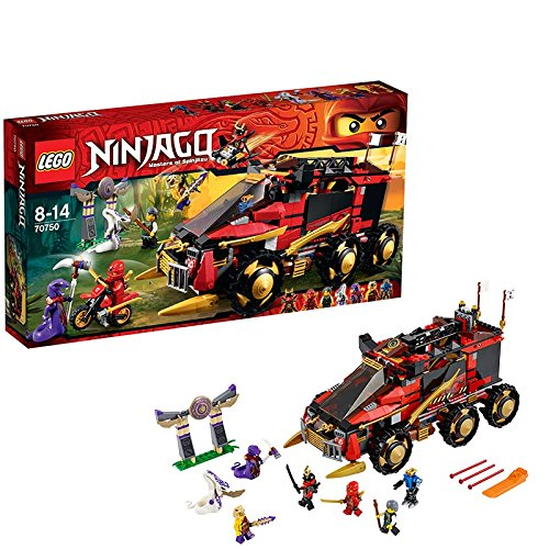 LEGO® Ninjago - Playthèmes - 70750 - Jeu De Construction - La Base Mobile Des Ninja