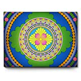 India Mandala Art Pattern Ornament Fun Wall Art Canvas 40cm x 30cm   Wellcoda