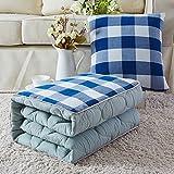 Cotone cuscino quilt dual-purpose multi-funzione cuscino auto viene lavato il cotone addensato aria condizionata era bambino entro l'estate,110*150 cm, blu