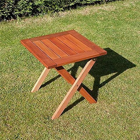 BillyOh 0.45m Durable Weatherproof Shorea Hardwood Compact Size Portable Folding Square Elegance Garden