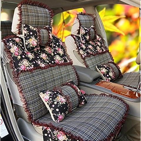 Seggiolino Auto Four Seasons generale femminile sveglia Shi Leisi Special Car copertura di sede della copertura di sede di colore rosa chiffon Camicia Autunno Inverno ( colore : A2 )