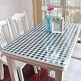 XJ&DD PVC-weichglas Tischdecke,Schreibtisch-Tuch,Tischmatte,Oilproof Haushalt Kristall-Teller Wasserdicht Einweg Coffee Table Esstisch-A 90x160cm(35x63inch)