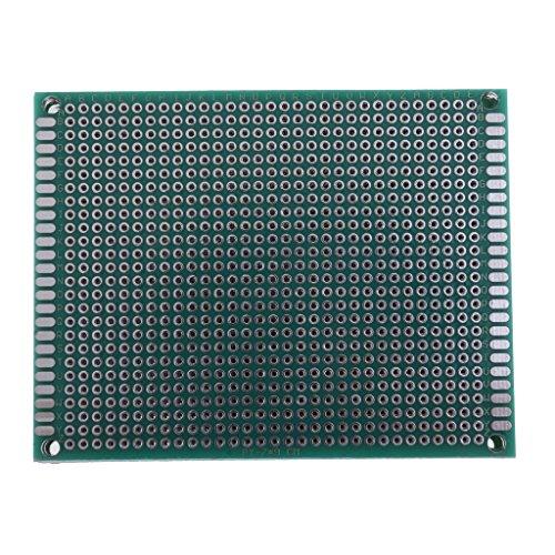 10 Stücke Doppelseitige PWB-Brett-Prototyp-Ausrüstung Heizanlagen-Teile und Zubehör - Blau 6x8 cm