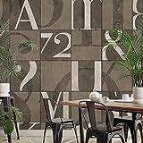 WALL81 Papier Peint écologique TNT Alphabet élégant–Taille XL cm 513x 300H