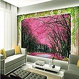 Wapel  3D Stereo Großen Wandgemälden Moderne Schöne Kirschbaum Kunst Cherry Fototapete Für Wohnzimmer Schlafzimmer 300Cmx210Cm