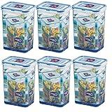 wns-emg-world ISI Lock & Lock, HPL 809, set di 6 contenitori per alimenti, ognuno da1,3 ml