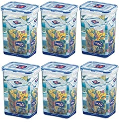 ISI Lock & Lock Frischhaltedosen Set 6-teilig HPL 809 je 1,3 Liter