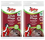 Poliboy - Schuh Pflege Feuchttücher - 2x10 Stück - Glatt- und Kunstlederschuhe - ideal für unterwegs(2er, Schuhe)