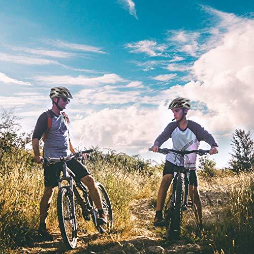 Casco Bicicleta/Casco Bicic con Luz LED,Certificado CE,Casco Ciclismo con Visera y Forro Desmontable Especializado con Luz de Seguridad Super Light Casco Bici para Skateboarding Ski & Snowboard