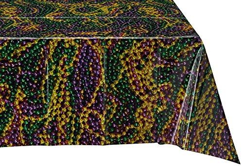 Gras Perlen Tischdecke, 137von 274cm (Mardi Gras Tischdecken)