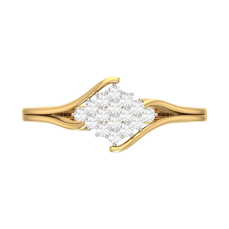 PC Jeweller The Alita 18KT Yellow Gold & Diamond Rings
