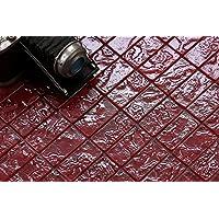 10cm x 10cm Cristal Mosaico de azulejos en rojo efecto texturizado) Diseño de piedra de lava (mt0123patrón)