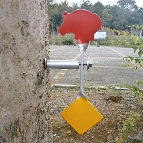 Geschraubt Typ Stahl Plinking Target - Boar + Quadrat Plinking Target