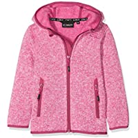 CMP Chaqueta con Forro Polar para niña, niña, Color Hot Pink-Bianco, tamaño 140