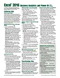 Microsoft Excel 2016 Business Analytics & Power BI Quick Reference Guide - Windows Version (4-page Cheat Sheet of Instructions, Tips & Shortcuts - Laminated Guide) by Beezix Inc (2016-02-24)