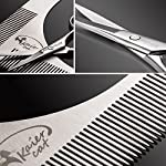 Kaiercat® Stainless Steel Beard Shaping Tool and Scissors Kit for Beard Trimming and Grooming, Gifts for Father's Day… 9