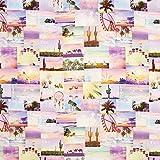 Fabulous Fabrics Halbpanama Coachella Patchwork – rosa — Meterware ab 0,5m — zum Nähen von Outdoor-Deko, Kissen und Tagesdecken und Tischdekorationen