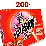 Malabar Fraise et Tattoos 200 Stck. Packung (Kaugummi Erdbeere)