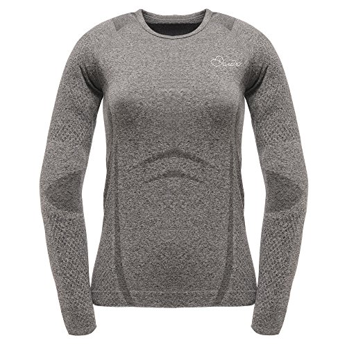 Dare 2b Women's III Zonal Long Sleeve Tee, Charcoal Grey, Größe XL/XXL (Tee Thermal Sleeve Long)
