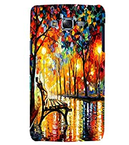 Citydreamz Multicolor Trees/Street/Lonely/Lights/Abstract Hard Polycarbonate Designer Back Case Cover For Samsung Galaxy J7 2016 /J76/J710