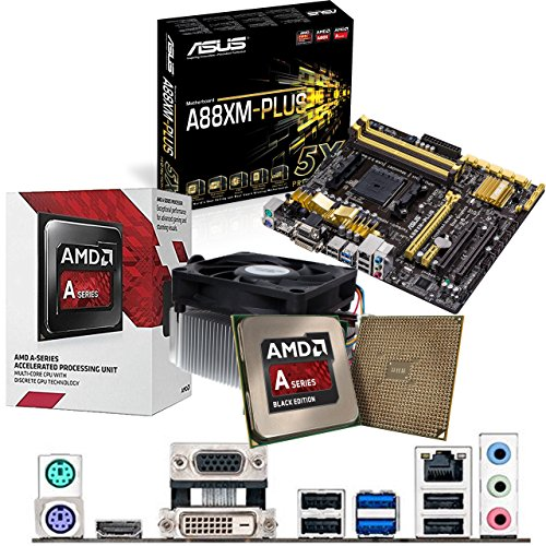 AMD Kaveri A8-7600 3.1Ghz CPU, ASUS A88XM-PLUS CPU & Motherboard Pre-Built Bundle