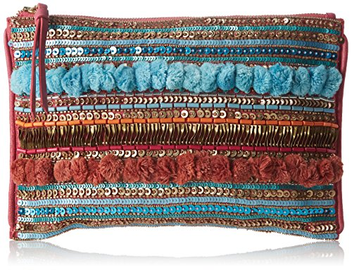 Pennyblack Damen selenio Handtasche, 30x21x1 cm Multicolore (Fantasia Rosa)